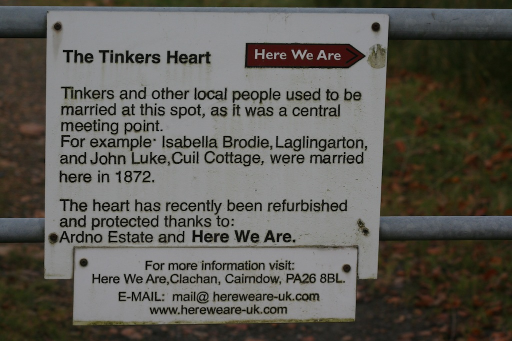 The Tinkers Heart on a day out from Appletree Cottage Loch Lomond