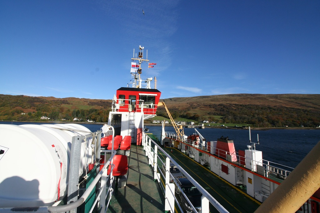 Aboard the Loch Dunvegan on a day out from Appletree self catering cottage Loch Lomond