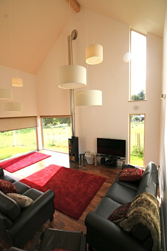 Loch Lomond self catering luxury lodge wood stove