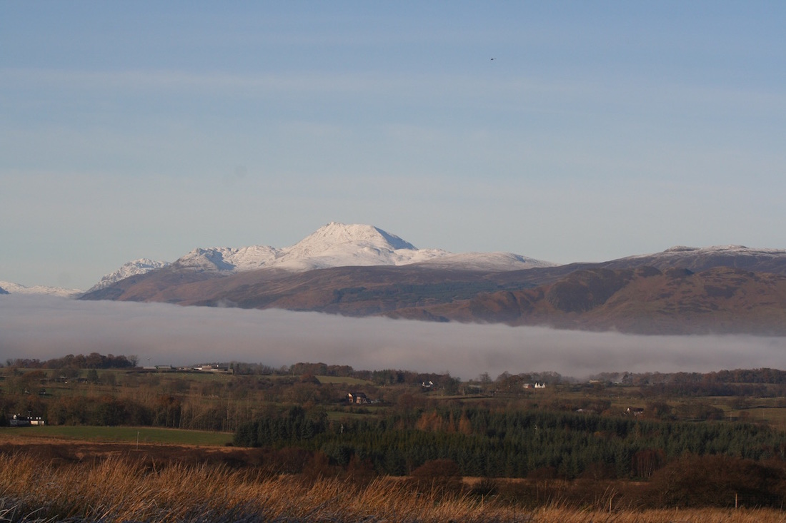 Ben Lomond from Cameron Muir on a walk from Appletree Cottage