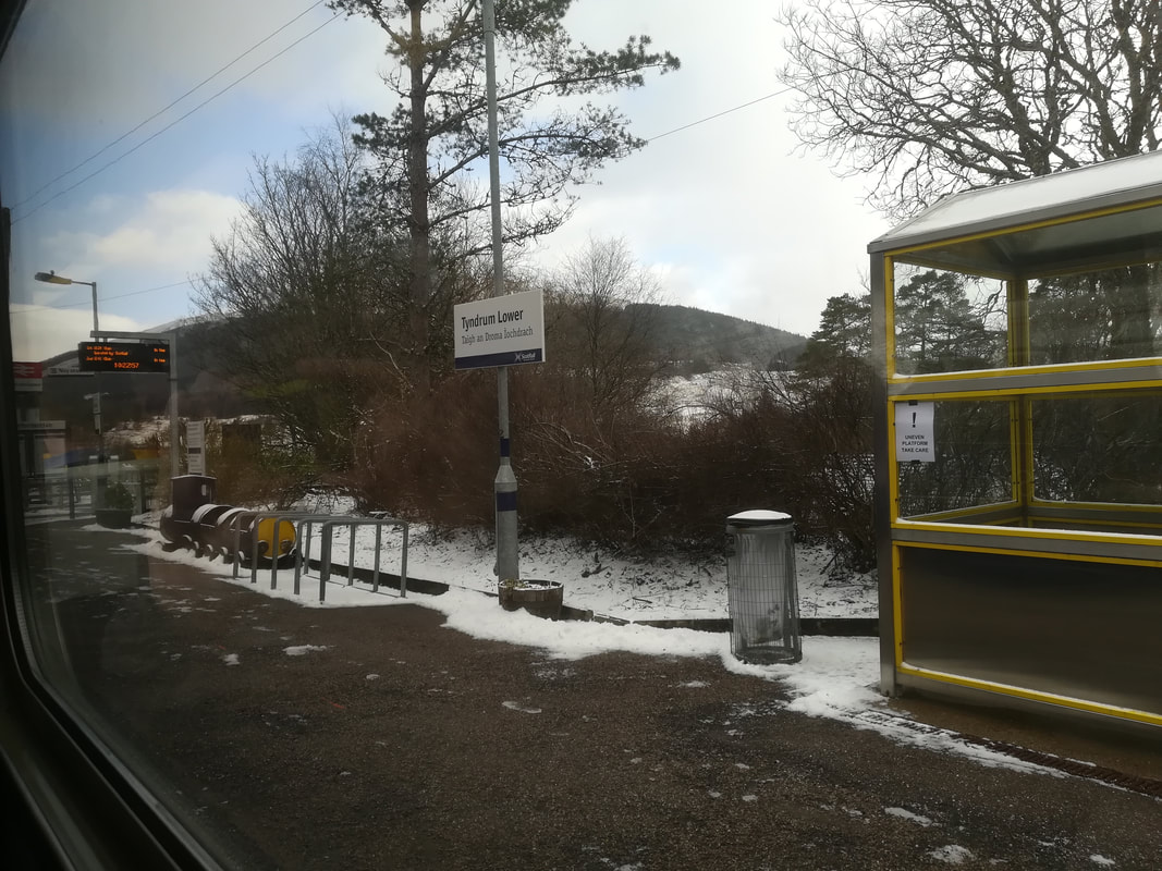 Tyndrum Station visited from Appletree Holiday Cottage
