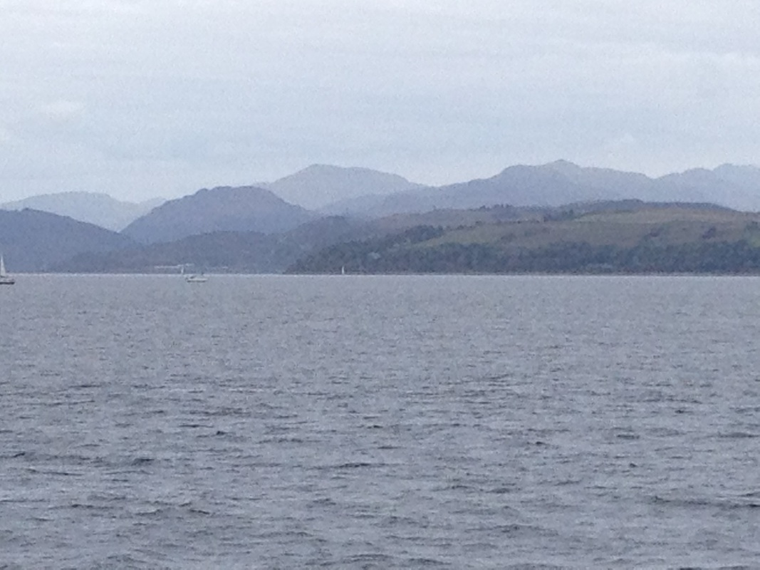 View form the Dunoon Ferry on an excursion from Appletree Cottage, Croftamie