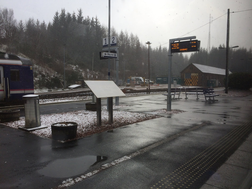 Crianlarich Station, about 1.5 hours from Appletree Holiday Cottage Loch Lomond