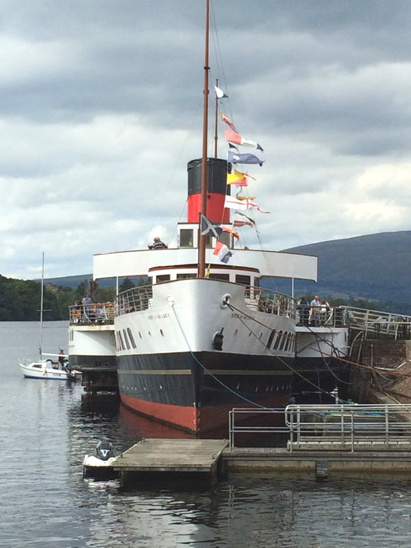 Maid of the Loch on a day out from Appletree Cottage