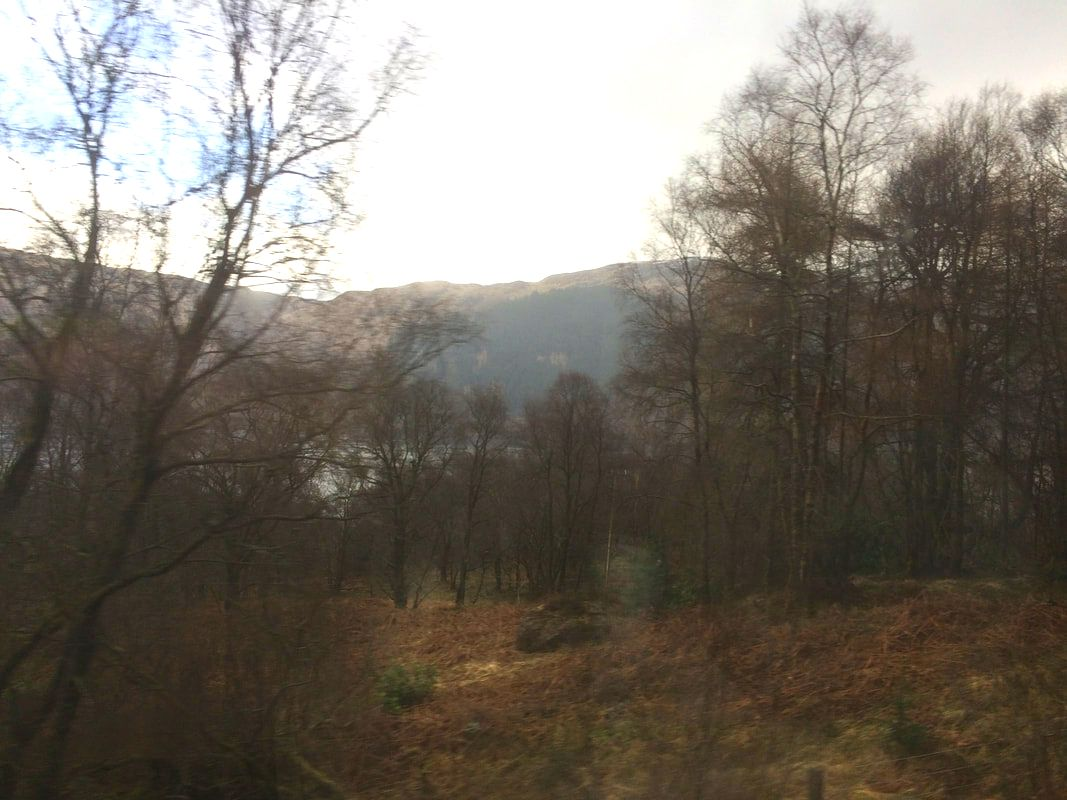 On the Oban train on a day out from Appletree Self Catering Cottage